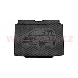 čierna gumová vložka do kufru s ilustrací vozu (se sadou nářadí, s rezervou) - [7606X01C] - 343066