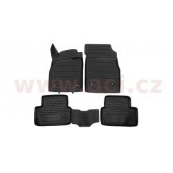 3D gumové koberečky černé (sada 4 ks). - [0820X103D] - 307013