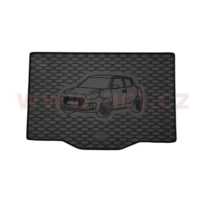 čierna  gumová vložka do kufru s ilustrací vozu - [5226X01C] - 321186